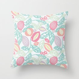 Pastel Fruits Throw Pillow