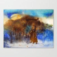twilight Canvas Prints featuring Twilight by Iris V.