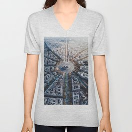 Arc De Triomphe, Paris Unisex V-Neck