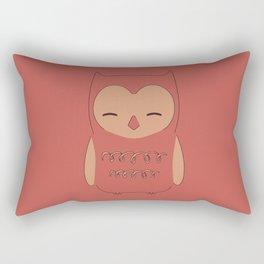 Owl illustration minimalist Rectangular Pillow