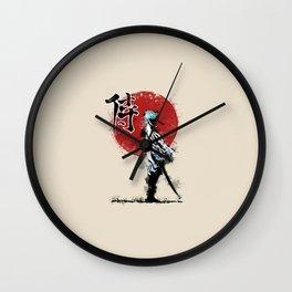 white samurai Wall Clock