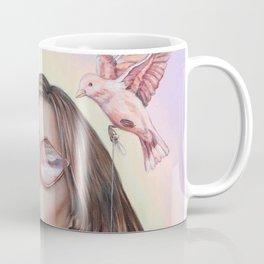 Light and Magic - Pastel and Neon Acrylic Painting Coffee Mug