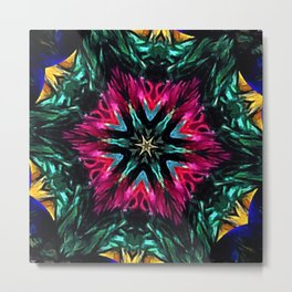 Girls Night Out Feather Boa Kaleidoscope Metal Print