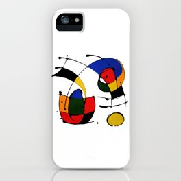 In the Style of Miro iPhone Case