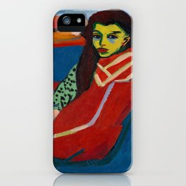 Ernst Ludwig Kirchner - Seated Girl, 1910 iPhone Case