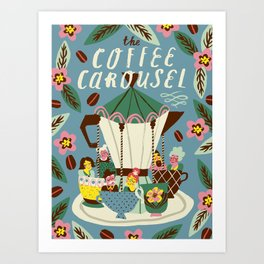 The Coffee Carousel Art Print