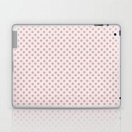 Taupe Polka Dots on Pink Laptop & iPad Skin