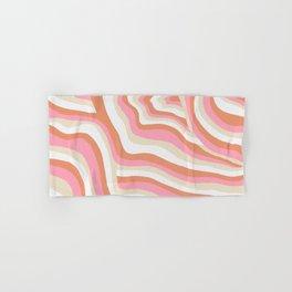 bubblegum pink zebra stripes Hand & Bath Towel