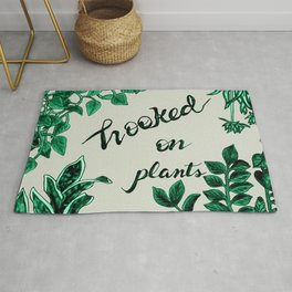 Hooked On Plants/Neutral Rug