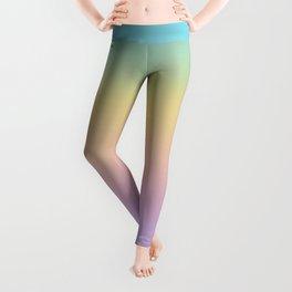 Pastel Rainbow Ombre Gradient Leggings