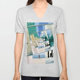 Watching The Ocean Unisex V-Neck