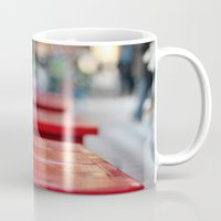 aperture Mugs featuring The red table by Nina's clicks