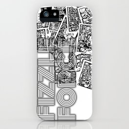 Fizzle Force Photocopy iPhone Case