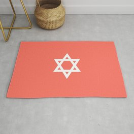 Star of David 8- Jerusalem -יְרוּשָׁלַיִם,israel,hebrew,judaism,jew,david,magen david Rug