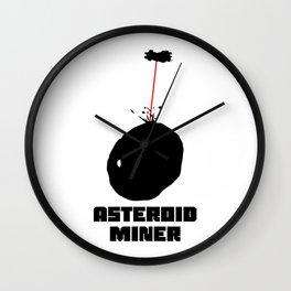 Asteroid Miner Wall Clock