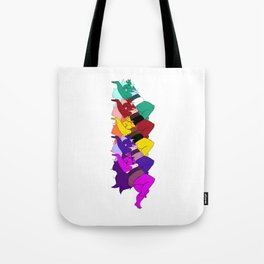 Amethyst Falling in a Cool Color Palette Tote Bag