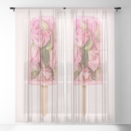 FLORAL POPSICLE Sheer Curtain