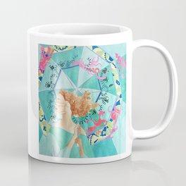 Woman Facing Against Wind Coffee Mug