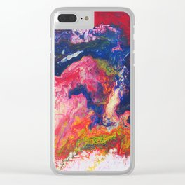 As We See It Acrylic Pour Abstract Painting Clear iPhone Case