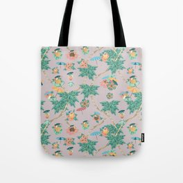 Dusty pink tropical drinks Tote Bag