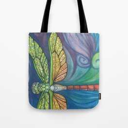 Groovy Dragonfly Spirit Tote Bag