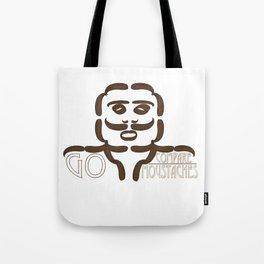 GO COMPARE..MOUSTACHES Tote Bag