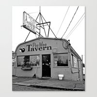 pee wee Canvas Prints featuring Pee Wee Tavern by Vorona Photography