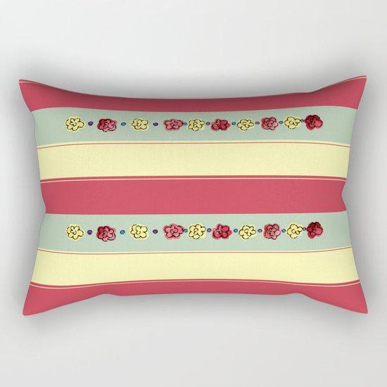 A Rosey Outlook Rectangular Pillow