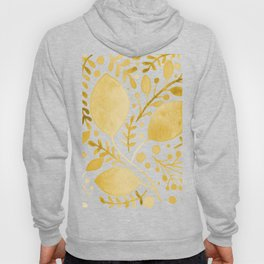 Branches and leaves - yellow Hoody