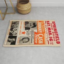 1967 Johnny Cash, Carter Family, Carl Perkins at Springfield Shrine Mosque Concert Poster Rug