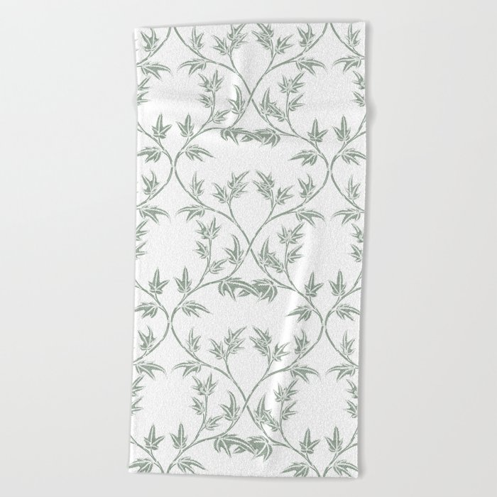 Ivy pattern Beach Towel
