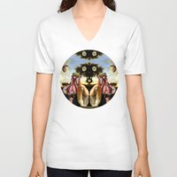 acid V-neck T-shirts featuring ACID HEART by DIVIDUS