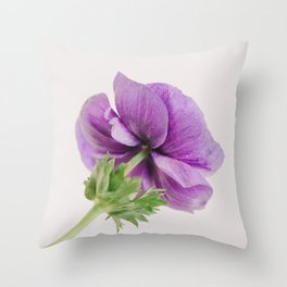 Purple Anemone Side View Throw Pillow