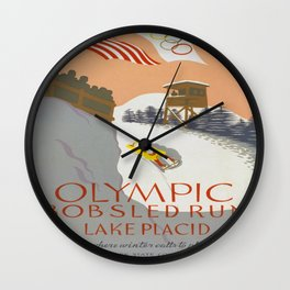 Vintage poster - Lake Placid Wall Clock
