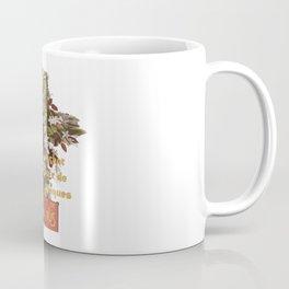 Easter Le Chat Noir de Paques With Floral Cross Coffee Mug