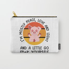 I'm Mostly Peace Yoga Pig Carry-All Pouch