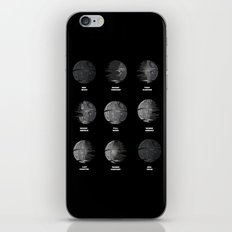 The Death Star Moon phase. iPhone & iPod Skin