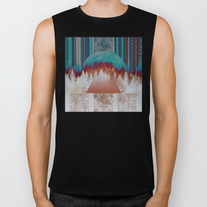 abstract floral forest 3 Biker Tank