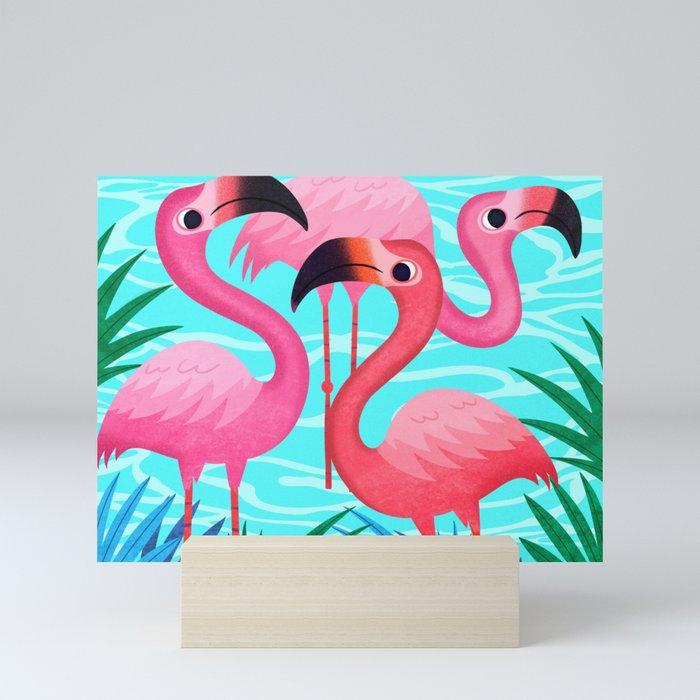 Flamingos Mini Art Print