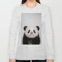 Panda Bear - Colorful Long Sleeve T-shirt