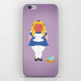 Alice in worriedland iPhone Skin