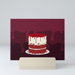 Desserts - Red Velvet cake -halloween- Mini Art Print