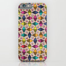 Colorful Kaleidoscopic Abstract Flower Pattern Slim Case iPhone 6s