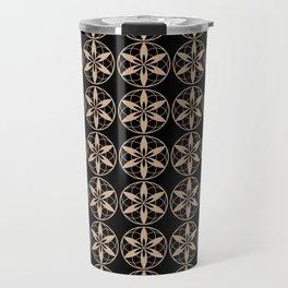 Hazelnut & Black AURA pattern Travel Mug