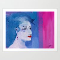 Just go OUT lady Art Print