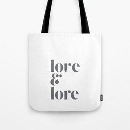 love & lore Tote Bag