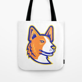 Cardigan Welsh Corgi Head Mascot Tote Bag