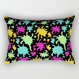 Colorful Paint Splatter Pattern Rectangular Pillow