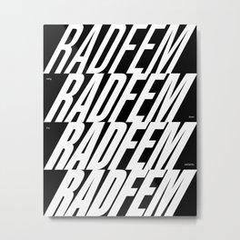 Radfem crescendo Metal Print