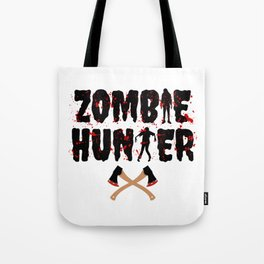 Zombie Hunter - Horror Infects Undead Blood Stain Tote Bag